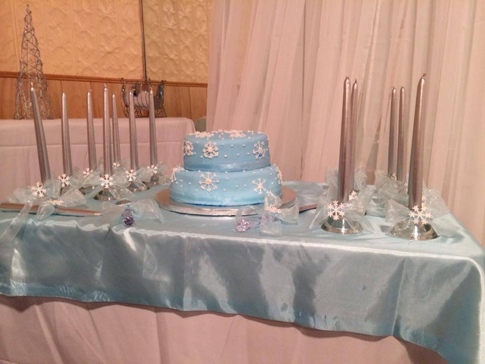 Quinceanera Cake and Candles